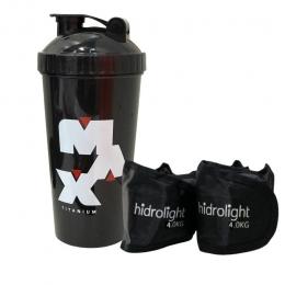 Coqueteleira Max Titanium + Caneleiras Hidrolight
